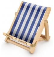 Stojak na książkę, czytnik i tablet Deckchair Bookchair Medium Stripy Blue