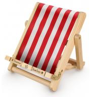 Stojak na książkę, czytnik i tablet Deckchair Bookchair Medium Stripy Red